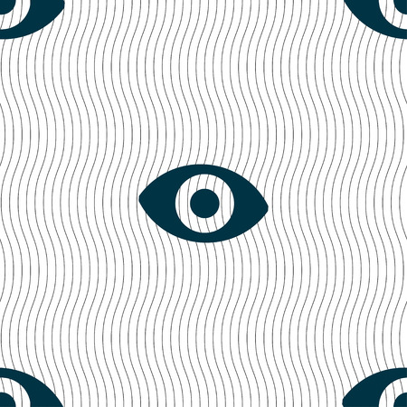 the sixth: sixth sense, the eye icon sign. Seamless pattern with geometric texture. Vector illustration