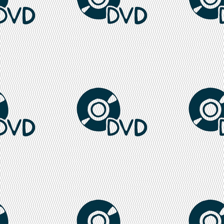 dvd case: dvd icon sign. Seamless pattern with geometric texture. Vector illustration Illustration