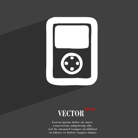 tetris: Tetris, video game console icon symbol Flat modern web design with long shadow and space for your text. Vector illustration