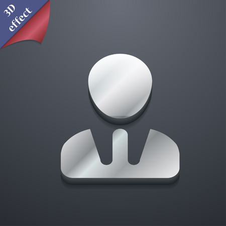 trendy male: male silhouette icon symbol. 3D style. Trendy, modern design with space for your text Vector illustration