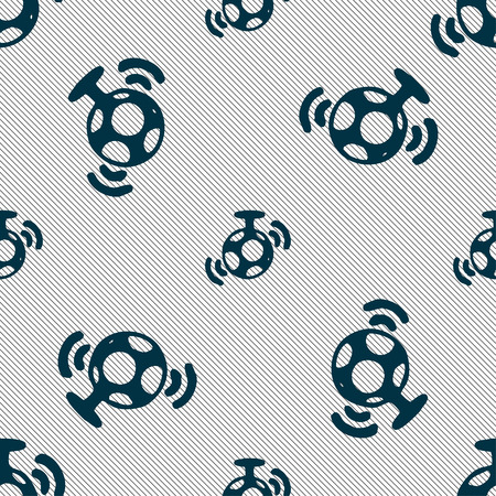 suspend: mirror ball disco icon sign. Seamless pattern with geometric texture. Vector illustration