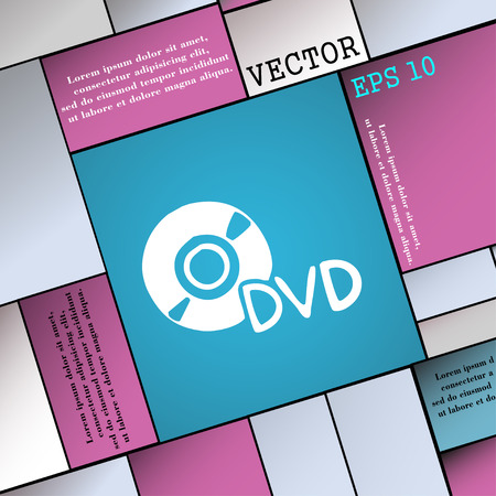 storage data product: dvd icon sign. Modern flat style for your design. Vector illustration