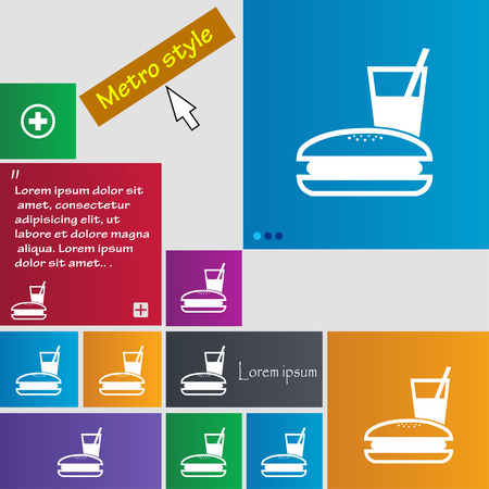 lunch box icon sign. buttons. Modern interface website buttons with cursor pointer. Vector illustration