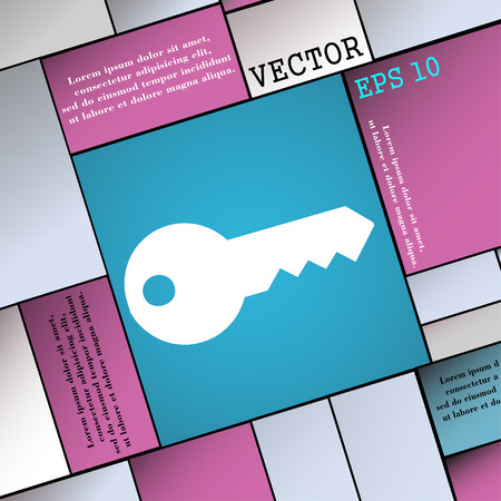 latchkey: key icon sign. Modern flat style for your design. Vector illustration