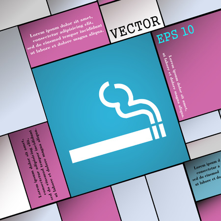 pernicious: cigarette smoke icon sign. Modern flat style for your design. Vector illustration