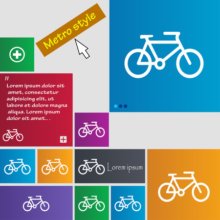 biking glove: bike icon sign. buttons. Modern interface website buttons with cursor pointer. Vector illustration