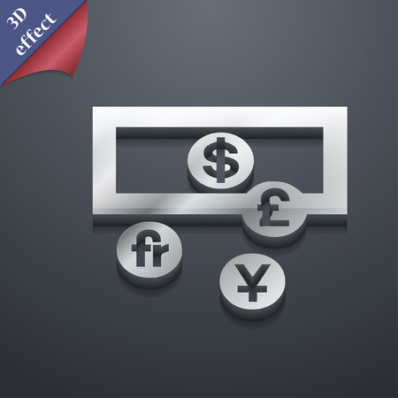 australian money: currencies of the world icon symbol. 3D style. Trendy, modern design with space for your text Vector illustration Illustration