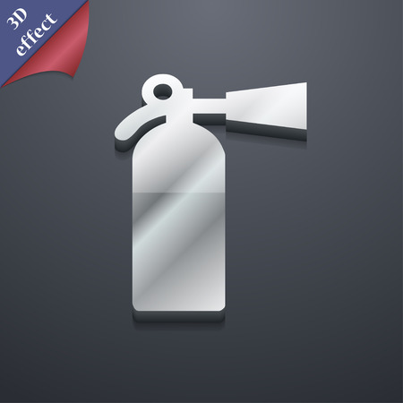 escaping: extinguisher icon symbol. 3D style. Trendy, modern design with space for your text Vector illustration