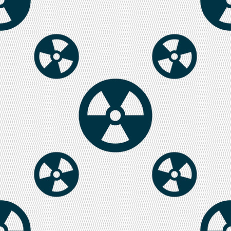 cold fusion: radiation icon sign. Seamless pattern with geometric texture. Vector illustration Illustration