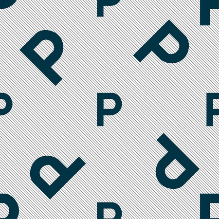 traffic warden: parking icon sign. Seamless pattern with geometric texture. Vector illustration