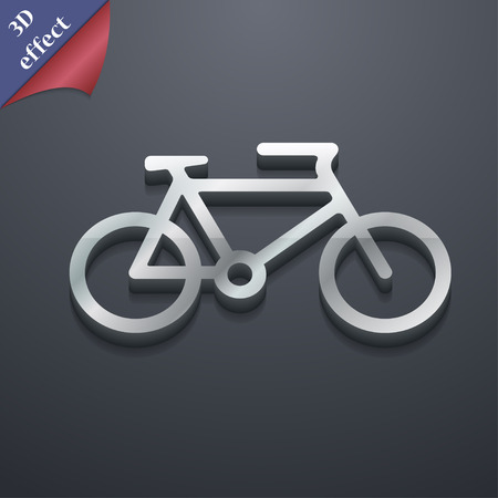 biking glove: bike icon symbol. 3D style. Trendy, modern design with space for your text Vector illustration