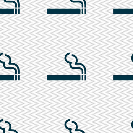 pernicious: el humo del cigarrillo icono de signo. Modelo incons�til con textura geom�trica. Ilustraci�n vectorial