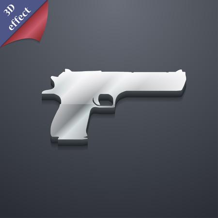 army gas mask: arma icono de s�mbolo. Plantillas en 3D. Dise�o de moda, moderno, con espacio para el texto Ilustraci�n vectorial Vectores