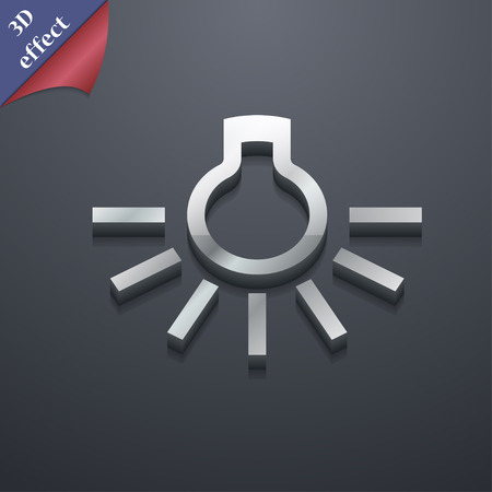 light bulb icon symbol. 3D style. Trendy, modern design with space for your text Vector illustration Illustration