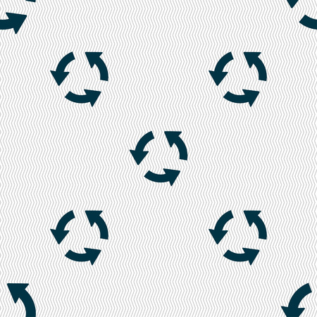 application recycle: Refresh icon sign. Seamless pattern with geometric texture. Vector illustration
