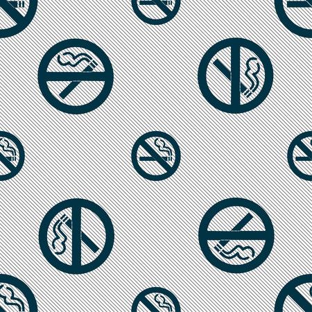 pernicious: ninguna se�al de icono de fumar. Modelo incons�til con textura geom�trica. Ilustraci�n vectorial Vectores