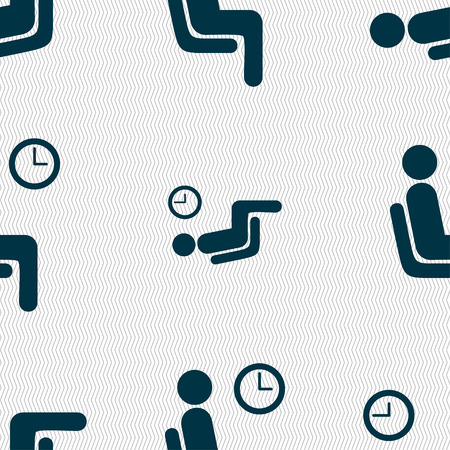 metering: waiting icon sign. Seamless pattern with geometric texture. Vector illustration