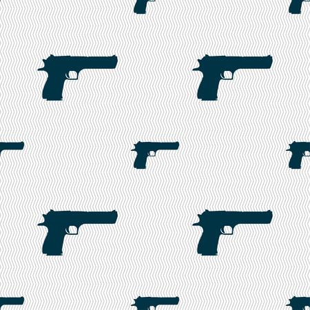 army gas mask: arma icono de signo. Modelo incons�til con textura geom�trica. Ilustraci�n vectorial