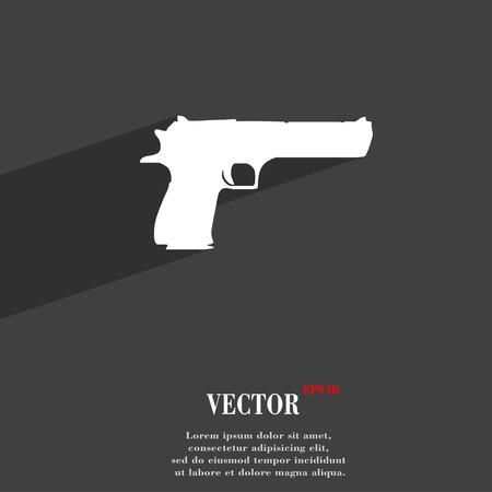 army gas mask: arma s�mbolo del icono de dise�o web moderno plana con una larga sombra y el espacio para el texto. Ilustraci�n vectorial Vectores