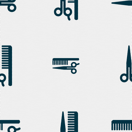 decoration decorative disguise: hair icon sign. Seamless pattern with geometric texture. Vector illustration Illustration