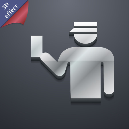 inspector: Inspector icon symbol. 3D style. Trendy, modern design with space for your text Vector illustration Illustration