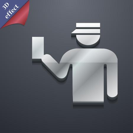 kontrolleur: Inspector Symbol Symbol. 3D-Stil. Trendy, modernes Design mit Platz f�r Ihren Text Vektor-Illustration