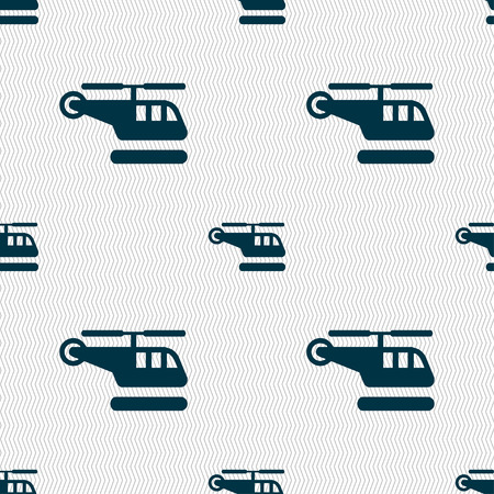 airbus: helicopter icon sign. Seamless pattern with geometric texture. Vector illustration