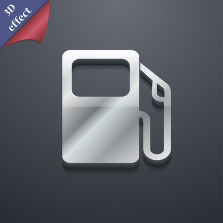 space station: Auto gas station icon symbol. 3D style. Trendy, modern design with space for your text Vector illustration Illustration