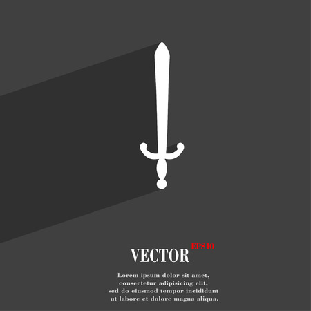 sword fight: the sword icon symbol Flat modern web design with long shadow and space for your text. Vector illustration