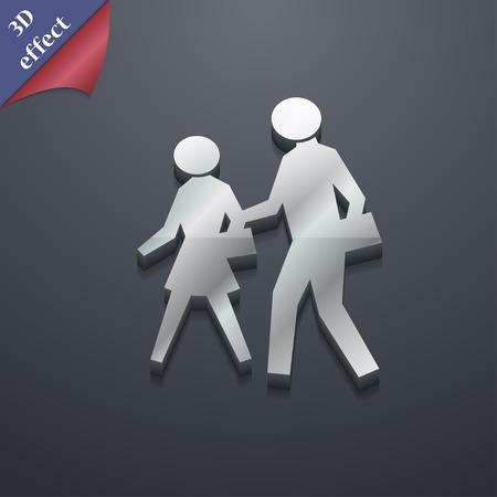 passage clout�: passage pour pi�tons symbole de l'ic�ne. 3D style. Trendy, un design moderne avec un espace pour votre texte Vector illustration Illustration