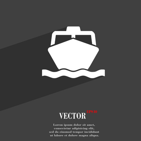 wheel guard: the boat icon symbol Flat modern web design with long shadow and space for your text. Vector illustration Illustration