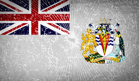 antarctic: Flags of British Antarctic Territory with broken glass texture. Vector illustration Illustration