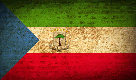 equatorial: Flags of Equatorial Guinea with dirty paper texture. Vector illustration Illustration