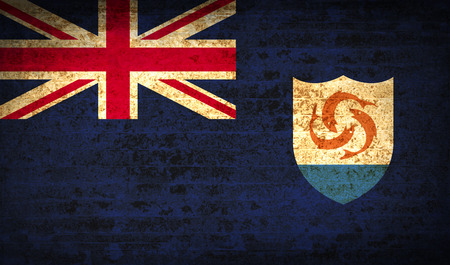 anguilla: Flags of Anguilla with dirty paper texture. Vector illustration