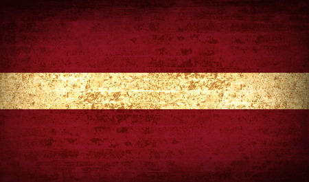 europe closeup: Flags of Latvia with dirty paper texture. Vector illustration