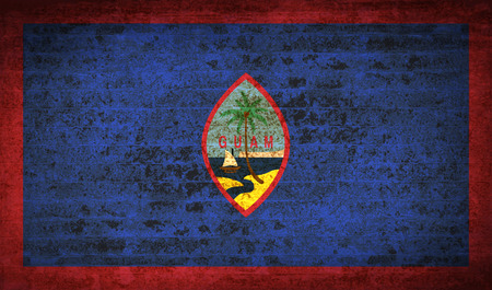 guam: Flags of Guam with dirty paper texture. Vector illustration Illustration