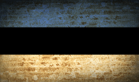 europe closeup: Flags of Estonia with dirty paper texture. Vector illustration