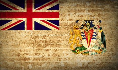 antarctic: Flags of British Antarctic Territory with dirty paper texture. Vector illustration Illustration