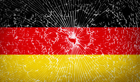 glass texture: Flags of Germany with broken glass texture. Vector illustration