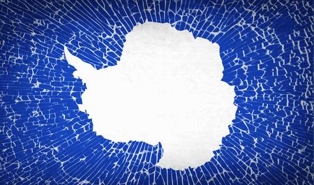 standards: Flags of Antarctica with broken glass texture. Vector illustration Illustration