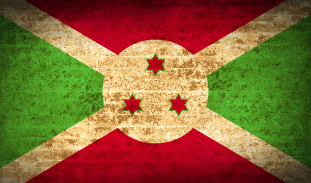 proportional: Flags of Burundi with dirty paper texture. Vector illustration
