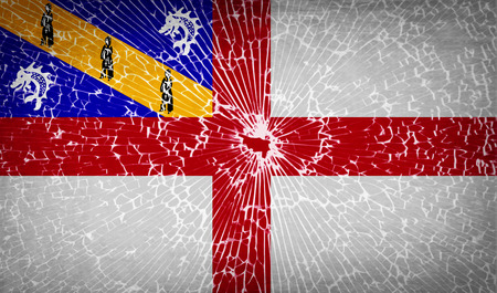glass texture: Flags of Herm with broken glass texture. Vector illustration