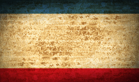 crimea: Flags of Crimea with dirty paper texture. Vector illustration