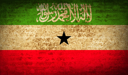 somaliland: Flags of Somaliland with dirty paper texture. Vector illustration