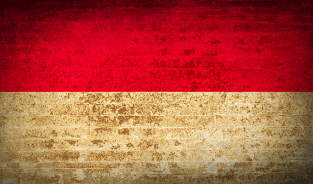 patriots: Flags of Monaco with dirty paper texture. Vector illustration