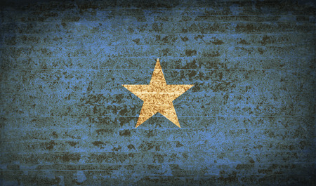 flagged: Flags of Somalia with dirty paper texture. Vector illustration