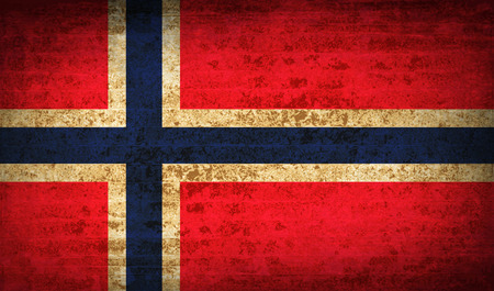 proportional: Flags of Norway with dirty paper texture. Vector illustration