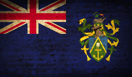 pitcairn: Flags of Pitcairn Islands with dirty paper texture. Vector illustration