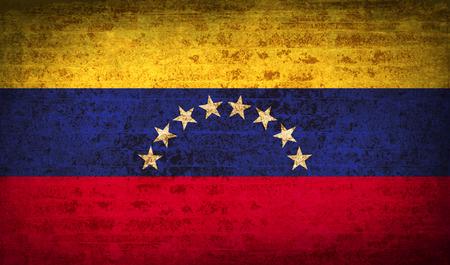 venezuelan: Banderas de Venezuela con textura de papel sucio. Ilustraci�n vectorial Vectores