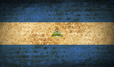 nicaragua: Flags of Nicaragua with dirty paper texture. Vector illustration